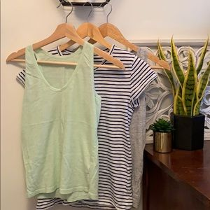 3 for 1! Two Jcrew tanks & a tshirt🌿